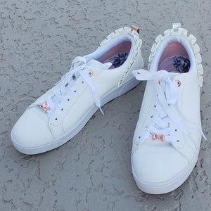 Ted Baker London EUC ruffled sneakers size 9.5